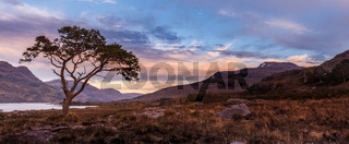 Sunset at Loch Maree