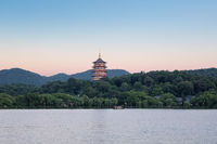 beautiful hangzhou west lake scenery