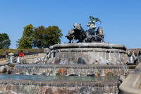Gefion Fountain in Copenhagen, Denmark