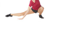 Woman doing fitness stretching execrise