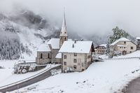 The village of Rein in Taufers in winter