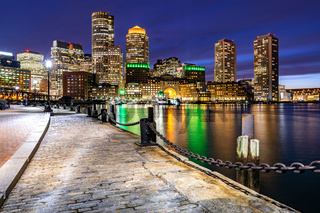 Boston Downtont night