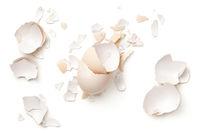 Egg Shells Isolated On White Background