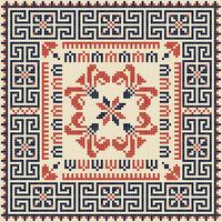 Palestinian embroidery pattern 136