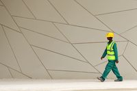 National Museum of Qatar worker