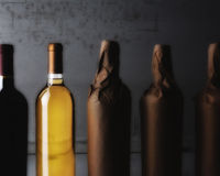 Wine Still Life Wrapped bottles