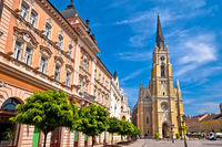 Novi Sad square and architecture street view