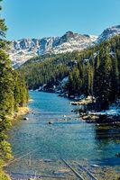 Lake Verna, Rocky Mountains, Colorado, USA.