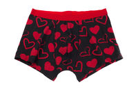 Men's pants with a pattern of heart