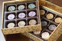 Decorative Box of Artisan Fine Chocolate Candy