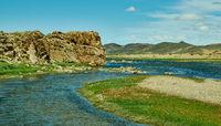 Rocky coast Zavkhan River