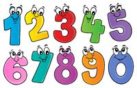 Cartoon numbers theme set 1