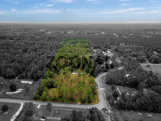 Landscape with Isolated Property Land Black and White Color Boundaries Surveying Patch Acres