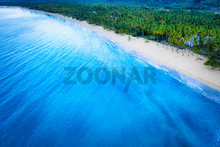 Aerial view of Coson beach