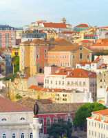 View Lisbon Old Town Portugal
