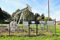 Oil production in Merkwiller-Pechelbronn Alsace France