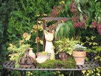 decorated garden table