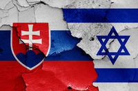 flags of Slovakia and Israel