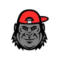 Gorilla Wearing Cap Mascot
