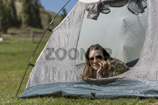 Rest in tent