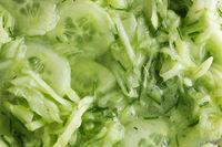 Cucumber salad top view