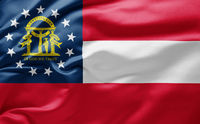 Waving state flag of Georgia - United States of America