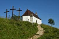 chapel and crosses; swabian alps; Germany