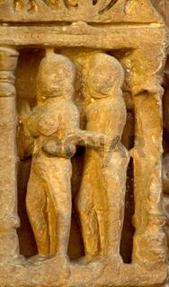 Alto-relievo of temples of Khajuraho