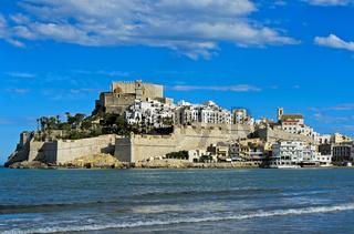 Burg von Peniscola, Peníscola, Costa del Azahar, Provinz Castellon, Spanie