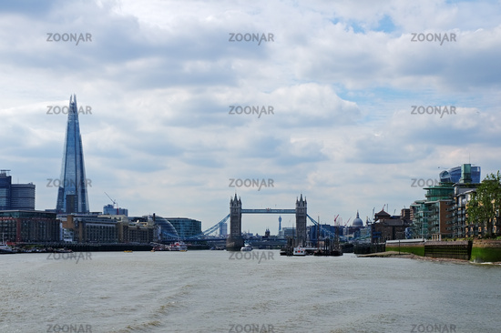 By Boat on the Thames - London