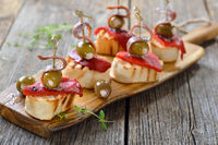 Finger food with anchovy fillets