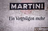 Ruin with Martini advertising