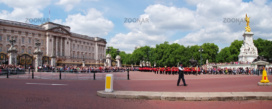 Changing of the Guard at Buckingham Palace - London