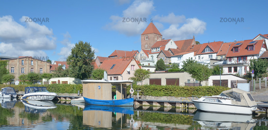 at Elde River in Plau am See in Mecklenburg Lake district,Mecklenburg western Pomerania,Germany