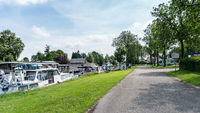 View on harbour and road to mobile home camping place