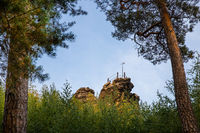 Natural landscape Teufelsmauer Harz near Blankenburg