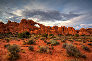 The rock formations in Arches National Park, Utah, USA