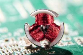 Detail eines Elektromotors