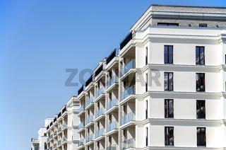Ansicht moderner Mehrfamilienhäuser