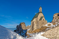 Small chapel on the summit of Wendelstein mountain