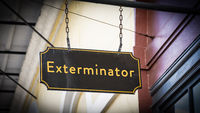 Street Sign to Exterminator