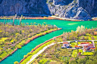 Cetina river mouth near Omis view