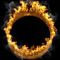 Abstract frame design flames and fire