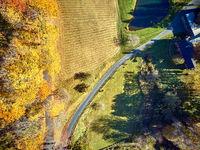 Farm at autumn in Woodstock, Vermont, USA