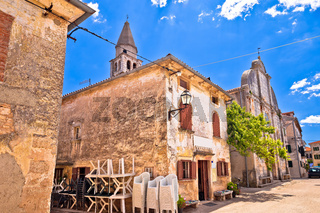 Village of Svetvincenat ancient square and church view