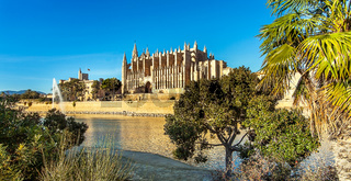 Palma de Mallorca Mallorca Spain 12.22.2018 at the Cathedral La Seu