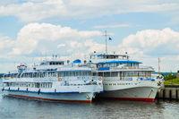 Two cruise passenger ship