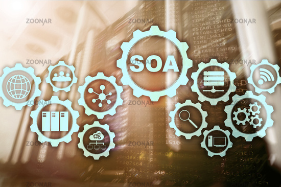 SOA. Business model and Information technology concept for Service Oriented Architecture under principle of service encapsulation
