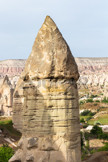 fairy chimney rock in mountains of Goreme Park