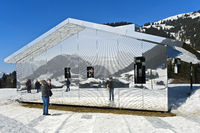 Mirror house Mirage Gstaad, Art Exhibition Elevation 1049: Frequencies, Gstaad, Switzerland